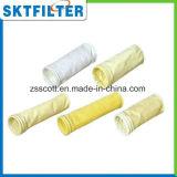 Uso reemplazable del bolso de filtro para la filtración industrial del polvo del cemento