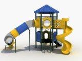 114mm galvanisiertes Pfosten-bunte Hexagon-Plattform-Kind-im Freienspielplatz-Gerät