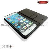 Caja del teléfono móvil del cuero de la buena calidad para el iPhone