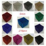 Saggezza 5mm di magnetico delle sfere sfera magnetica dell'anti cubo di sforzo dei 216 magneti del neodimio neo