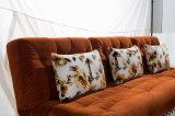 Base di sofà d'angolo convertibile arancione Comfy