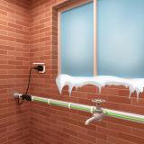 Prémonté, préparer pour installer le système de chauffage électrique de pipe