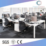 Poste de travail en travers facultatif personnalisé de bureau de mélamine de bureau de couleur avec le bâti en métal blanc