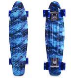 Skate de Longboard do cruzador da placa do patim do azul de céu de uma impressão de 22 polegadas