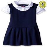Vestido uniforme branco da escola primária