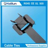 Tipo rilasciabile che chiude le fascette ferma-cavo a chiave rivestite dell'acciaio inossidabile del PVC