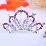Toebehoren van het Haar van de Bergkristallen van de Diamant van de Kroon van de Kinderen van Hairband van de bruid de Creatieve