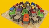 سعر جيّدة يجعل في الصين مستطيلة بلاستيكيّة روضة أطفال طاولة وكرسي تثبيت