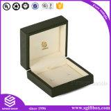 Caixa de jóia de empacotamento de papel do preto do presente de boa qualidade