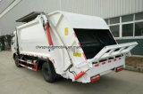 Les déchets des roues 125HP de Dongfeng 6 rassemblent le camion 7 tonnes de compacteur de camion d'ordures