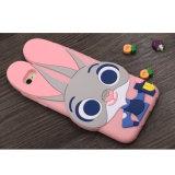caixa do silicone do telefone móvel de Judy do coelho dos desenhos animados 3D para o iPhone