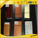 Personalizado Perfil de aluminio de grano de madera con productos de aluminio