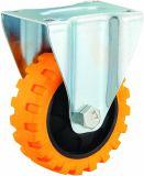 3-5 Veins Zoll-Reifen PU-Fußrollen-Rad-mittlere Aufgabe industrielle PU-Schwenker-Fußrolle