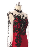2017명의 새로운 형식 디자인 여자는 우아한 야회복 긴 소매 파티복을 옷을 입는다