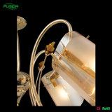 Lampadario a bracci classico con il montaggio di vetro di illuminazione dello schermo per la casa