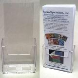 Contre- support triple acrylique clair de brochure