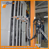 Cabine automática do revestimento do pó do multi ciclone do cliente de Colômbia