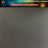 黒い袖のライニングによって編まれるファブリック、ポリエステル縞のスーツのライニングの織布(S34.36)