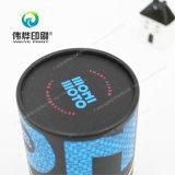 Caja de papel redonda, órdenes del ODM son agradables, diseños personalizados impresión de envases