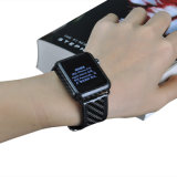 Heißestes kundenspezifisches reales Kohlenstoff-Faser-Uhr-Übungs-Band-Leder-Form-Armbanduhr-Luxuxband