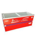 Покупка замораживателя холодильника раздвижной двери глубокая нижняя с нержавеющим углом