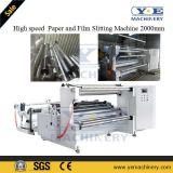 Roulis enorme automatique de papier d'emballage fendant la machine 2000mm de rebobinage
