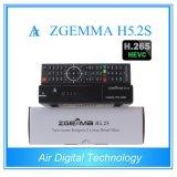 Best Hot Sale H. 265 / Hevc DVB-S2 + S2 Twin Sat Tuners Zgemma H5.2s Dual Core Linux OS E2 Digital Receiver