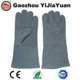 Перчатки работы безопасности предохранения от заварки руки CE EN407 кожаный