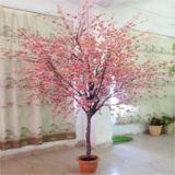 Decoração plástica artificial da árvore de pêssego