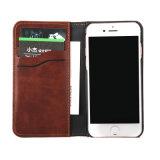 Caja de cuero del teléfono móvil del vaquero del empalme para el iPhone 7/7plus