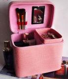 Caixa de armazenamento cosmética da ferramenta dos arti'culos de tocador da grande capacidade da beleza