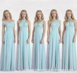 Aラインの新婦付添人のパーティー向きのドレスの軽くて柔らかい夕方のプロムの服Z202