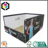 쌓을수 있는 백색 플루트 골판지 대중 음악 전시 상자