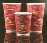잔물결 두 배 단 하나 벽 처분할 수 있는 커피 종이컵