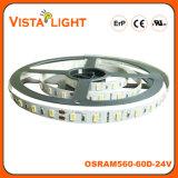 SMD5630 impermeabilizzano l'indicatore luminoso di striscia flessibile del LED per i centri di bellezza