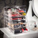 Cajón de acrílico claro de encargo para el maquillaje de los cosméticos