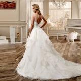 こんにちは低いオーガンザの花嫁衣装のレースのキャミソールの不足分のウェディングドレスTb418