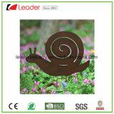 Le pieu en gros de silhouette de hérisson en métal de couche de poudre avec rouillé recherchent la décoration de jardin