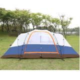 Grande tente campante à deux chambres de Double couche antipluie des personnes 5-8