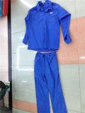 Blauwe Goedkope 2PCS Vastgestelde Katoenen van de Uniformen van de Fabriek van Pant&Shirt Doubai Workwear Kleding