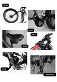 MEDIADOS DE bici eléctrica gorda del motor impulsor del neumático 48V 750W Bafang