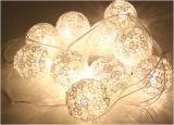 Merletto del LED/sfera del fiore con il contenitore di batteria 2AA