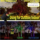 屋外IP65クリスマスの星プロジェクター赤い緑のシャワーの動きのレーザー光線