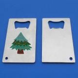 De Flesopener van het Bier van Kerstmis van de Giften van de Bevordering van de Flesopener van de Creditcard van het metaal
