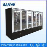 Congeladores de vidro usados caso do indicador da porta de Multideck do supermercado