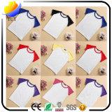T-shirt pur de couleur de coton personnalisable d'enfants