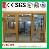 Guichet en aluminium de bâti d'ouverture vers l'intérieur et extérieure