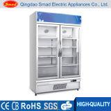 두 배 유리제 문 냉장고, 강직한 전시 진열장 (LC-630)