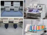 Wonyoは2つのヘッド刺繍機械9/12カラーをコンピュータ化した