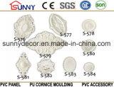 Decoración de Home&Interior del sostenedor de la lámpara de /Carving del medallón del techo de la PU de China